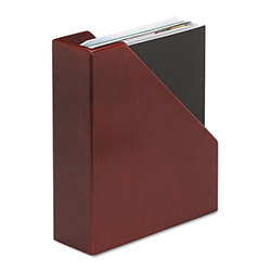 Rolodex Mahogany Wood Tones Magazine File