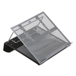 Rolodex Laptop Stand/Holder, Wire Mesh, Black/Silver