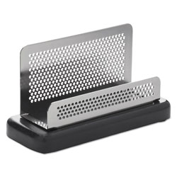 Rolodex Business Card Holder, Capacity 50 2-1/4 x 4 Cards, Black