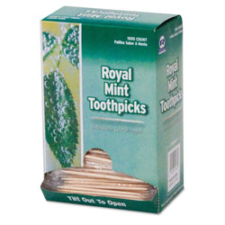 Royal   Individual Cello Wrapped Mint Flavored Toothpick
