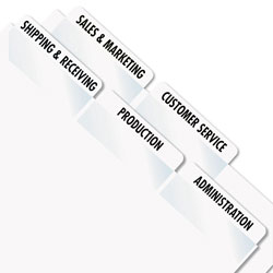 Redi-Tag/B. Thomas Enterprises Printable Index Tabs, White