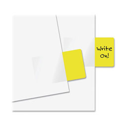Redi-Tag/B. Thomas Enterprises Semi Transparent Standard Rectangular Page Flags, 1 11/16 x 1, Yellow, 50/Pack