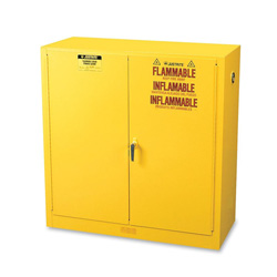 R3 Safety Sure-Grip EX Standard Safety Cabinet, 43w x 18d x 44h, Yellow