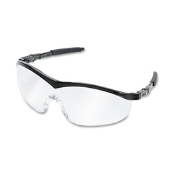 R3 Safety Black Safety Eyewear, Ratchet Action Temples, Scratch Resistant