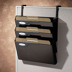 Rubbermaid 4 Pocket Hanging Files for Partitions, Legal/Printout, Smoke