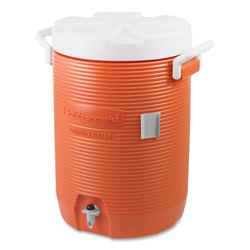 "Rubbermaid 5 Gallon Water Cooler, 12-1/2""x12-1/2""x18-3/4"", Orange/White"