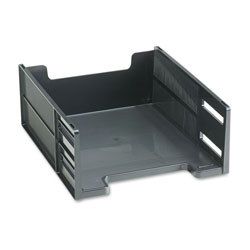 "Rubbermaid High Capacity Front Load Stackable® Tray, 5"" High, Letter Size, Black"