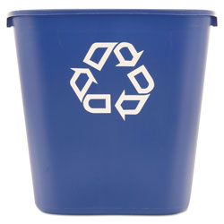 Rubbermaid Blue Recycling Bin, 7 Gallon
