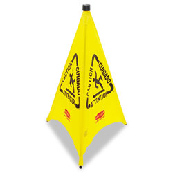 Rubbermaid Pop-Up Safety Cone, Yellow