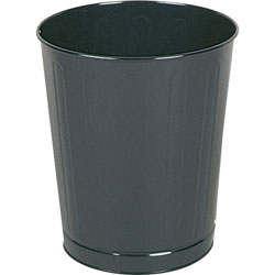 Rubbermaid Black Steel Fireproof Trash Can, 6.5 Gallon, Round