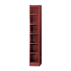"Safco 6-Shelf Baby Bookcase, 12""x12""x72"", Mahogany"