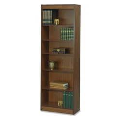 "Safco 6-Shelf Baby Bookcase, 24""x12""x72"", Cherry"