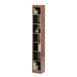 "Safco Baby Bookcase, 7-Shelf, 12""x12""x84"", Cherry"