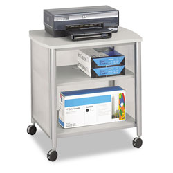 Safco Impromptu Machine Stand, 1-Shelf, 200lbs, 26-1/4 x 19-1/2 x 26-1/4, Silver/Gray