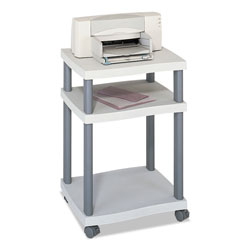Safco Wave Design Desk Side Mobile Printer Stand, 17 1/4w x 17 1/2d, Gray/Charcoal