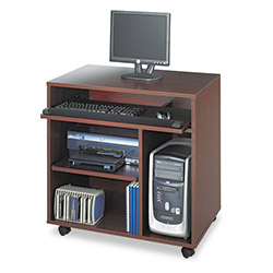 Safco Ready to Use Computer Workstation, Mahogany