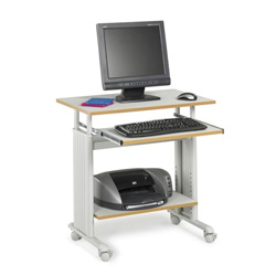 "Safco 28"" Wide Adjustable Height Workstation, Gray Shelves/Gray Frame"