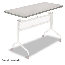 Safco Impromptu Mobile Training Table Top, Rectangular, 48w x 24d, Gray