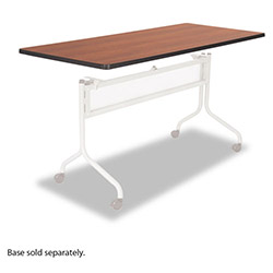 Safco Impromptu Mobile Training Table Top, Rectangular, 72w x 24d, Cherry