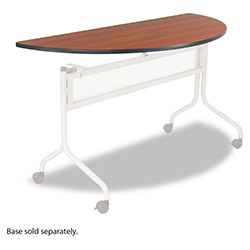 Safco Impromptu Mobile Training Table Top, Half Round, 48w x 24d, Cherry