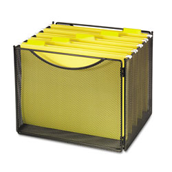 Safco Desktop Box Files, Steel Mesh, 23w x 1 1/4d x 10 1/4h