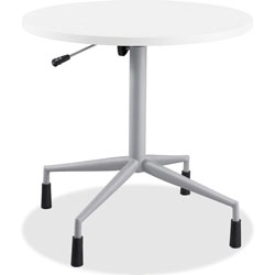 "Safco RSVP Series Pneumatic Table Base, 28"" dia. x 27-3/4 to 36-3/4h, Silver"