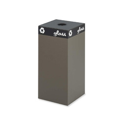 Safco Brown Recycling Container, 31 Gallon