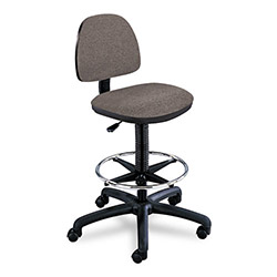 Safco Precision Extended Height Swivel Stool with Adjustable Footring, Dark Gray