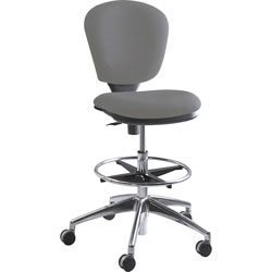 "Safco Metro Extended Height Swivel/Tilt Chair, 22"" to 33"" Seat Height, Gray/Fabric"