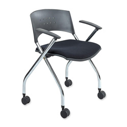 "Safco Nesting Chair with Padded Seat, 24""x21-1/2""x30-1/4"", 2/Carton, Black"