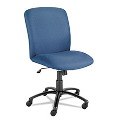 Safco Chair, High Back, Big and Tall, Blue