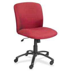Safco Big And Tall Series Mid Back Swivel Task Chair, Burgundy