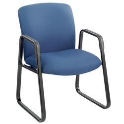 Safco Guest Chair, Big and Tall, Blue