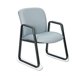 Safco Guest Chair, Big and Tall, Gray