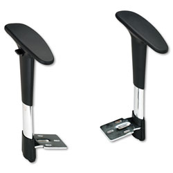 Safco Adjustable Arm Set for Metro Extended Height Chair, Black/Chrome