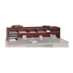 "Safco Desktop Organizer, Wood, 9 Compartments, 57-1/2"" x 12"" x 12"", Cherry"