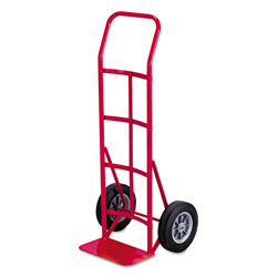 Safco Two Wheel Steel Hand Truck, Continuous Handle, 500 lb. Capacity, Red