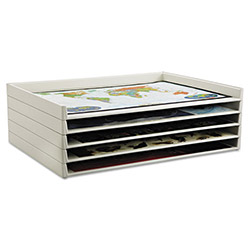 Safco Giant Stack Trays for Sheets to 42 1/2 x 32 1/2, White, 2 per Carton