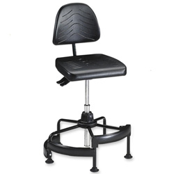 Safco Deluxe Industrial Chair, Black