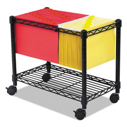 Safco Wire File Cart with Single Shelf, Black