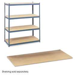 "Safco Open Shelving Unit, 69"" x 32 7/8"", 4 Shelves, Gray"