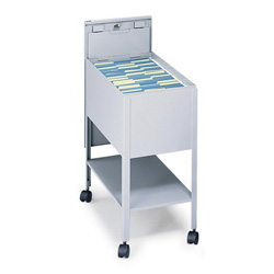 Safco Mobile File Cart with Letter Size, Gray
