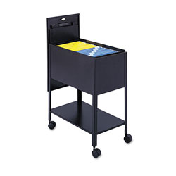 Safco Standard File Cart with Locking Door, Black