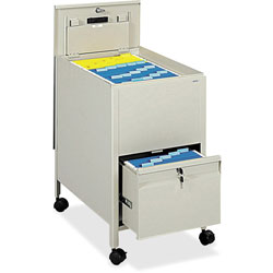 Safco Rollaway File Cart with Letter Size, Beige