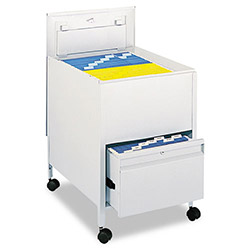 Safco Rollaway File Cart with Legal Size, Gray