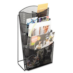 Safco Black Onyx Mesh 4-Pocket Counter Display