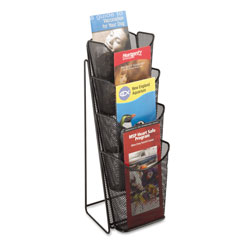 Safco Onyx Mesh One-Pocket Pamphlet Counter Display, Black