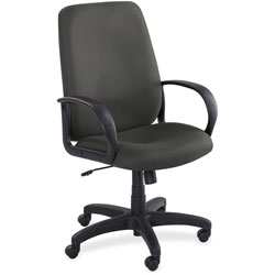 "Safco Executive High Back Chair, 27""x30""x41 46"", Black"