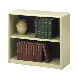 Safco Value Mate Series Steel Two Shelf Bookcase, 31 3/4w x 13 1/2d x 28h, Sand
