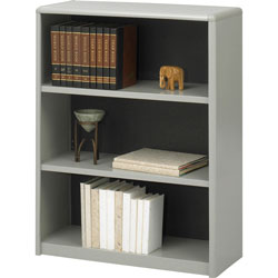 Safco Value Mate Series Steel Three Shelf Bookcase, 31 3/4w x 13 1/2d x 41h, Gray
